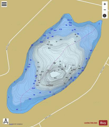 Tracy, Lac Fishing Map - i-Boating App