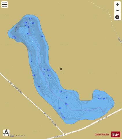 Pelletier, Lac Fishing Map - i-Boating App