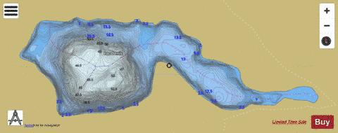 Denis, Lac Fishing Map - i-Boating App