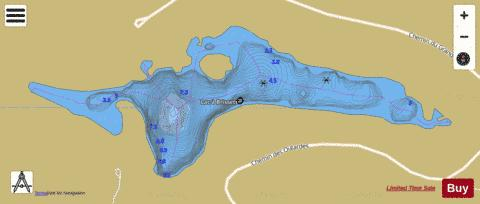 Brissette, Lac a Fishing Map - i-Boating App