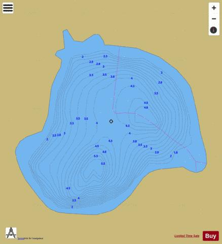 Duniere, Lac Fishing Map - i-Boating App