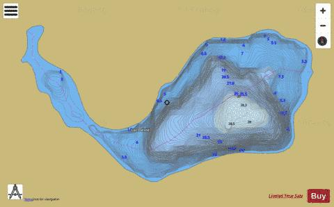 Devie, Lac Fishing Map - i-Boating App