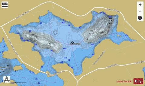 Nord, Lac du Fishing Map - i-Boating App