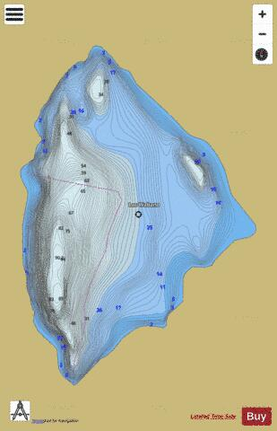 Wabano Lac Fishing Map - i-Boating App
