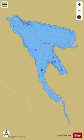 Whitton Lac Fishing Map - i-Boating App