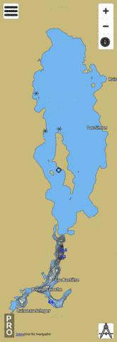 Lac Barriere, Cheneville Fishing Map - i-Boating App