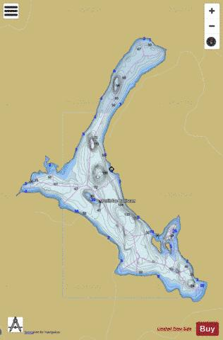 Batiscan, Petit lac Fishing Map - i-Boating App