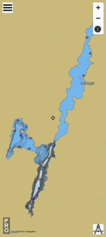 Lac Beaudry Fishing Map - i-Boating App