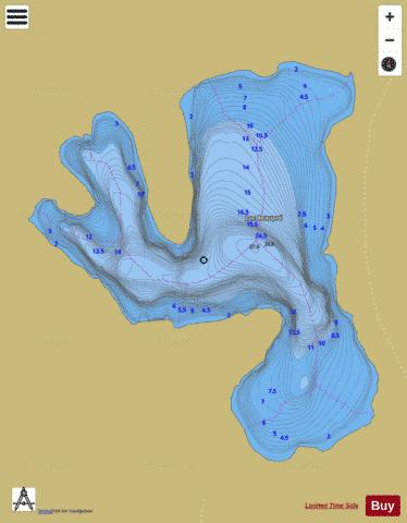 Beaupre, Lac Fishing Map - i-Boating App