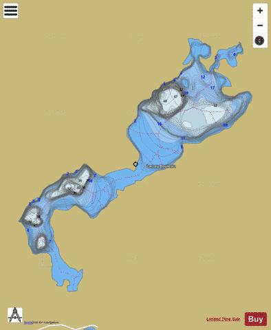 Bouleau, Lac au Fishing Map - i-Boating App