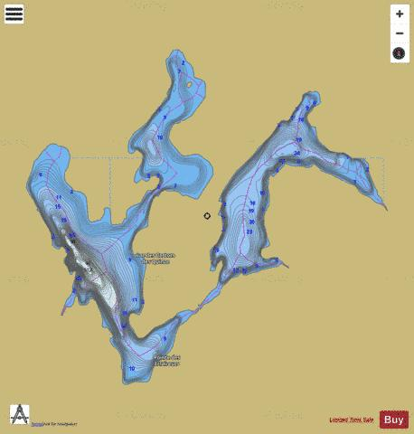 Castors des Quinze, Lac des Fishing Map - i-Boating App