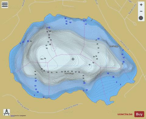Delage, Lac Fishing Map - i-Boating App