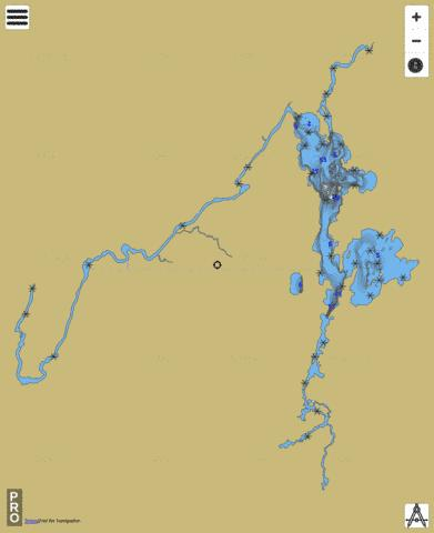 Lac Granet Fishing Map - i-Boating App