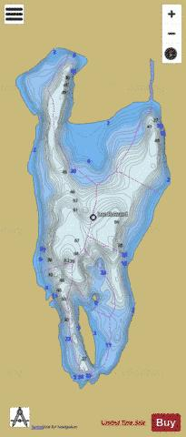 Howard, Lac Fishing Map - i-Boating App