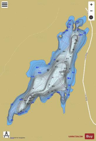 Kennedy, Lac Fishing Map - i-Boating App