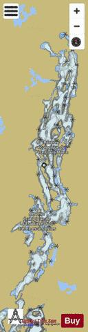 Lac des Trente et Un Milles Fishing Map - i-Boating App