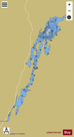 Lac Senneterre Fishing Map - i-Boating App