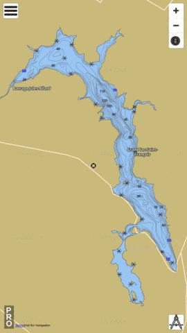 Grand lac Saint-François Fishing Map - i-Boating App