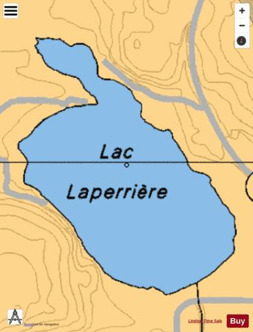 Laperriere, Lac Fishing Map - i-Boating App