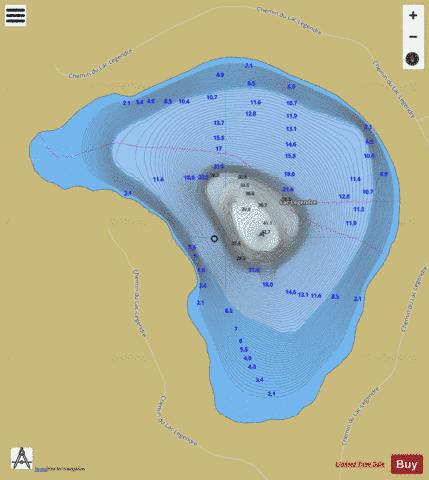 Legendre, Lac Fishing Map - i-Boating App