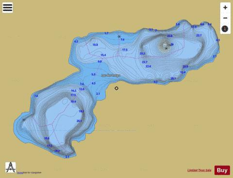 Loups, Lac des Fishing Map - i-Boating App