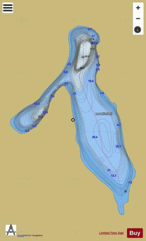 Mitchell, Lac Fishing Map - i-Boating App