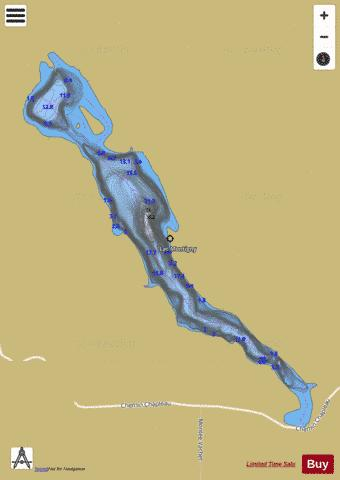 Montigny, Lac Fishing Map - i-Boating App