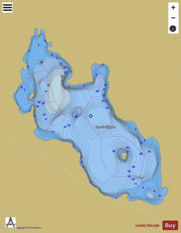 Nippon, Lac du Fishing Map - i-Boating App