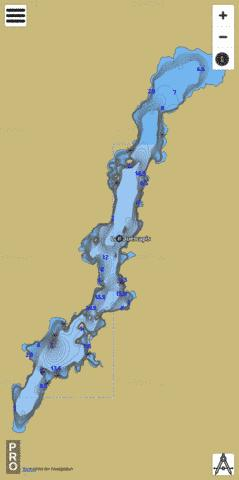 Lac Ouescapis Fishing Map - i-Boating App