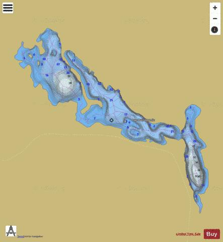 Ouinegomic, Lac Fishing Map - i-Boating App