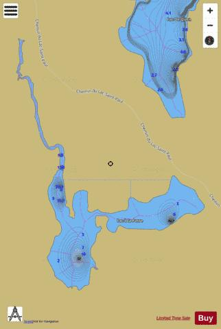 Passe, Lac a la Fishing Map - i-Boating App