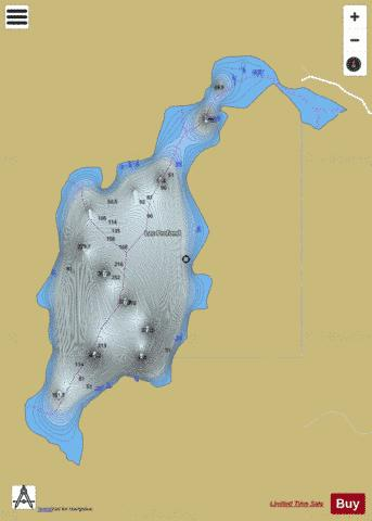 Profond, Lac Fishing Map - i-Boating App