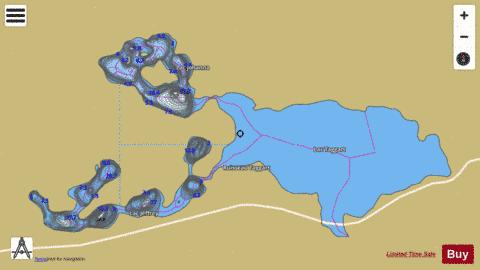 Johanna, Lac Fishing Map - i-Boating App
