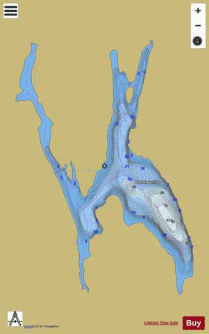 Roucette, Lac Fishing Map - i-Boating App