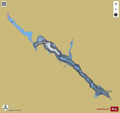 Soixante Arpents, Lac des Fishing Map - i-Boating App