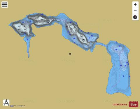 Tantare, Lac Fishing Map - i-Boating App