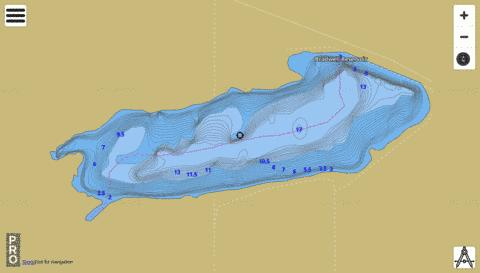 Bradwell Reservoir Fishing Map - i-Boating App
