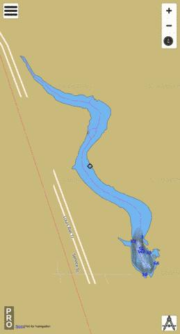 Davidson Dam Reservoir Fishing Map - i-Boating App