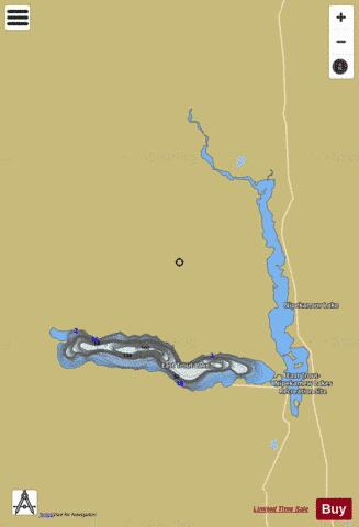East Trout Lake Fishing Map - i-Boating App