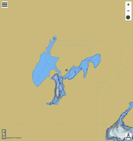 Fox Lake A Fishing Map - i-Boating App