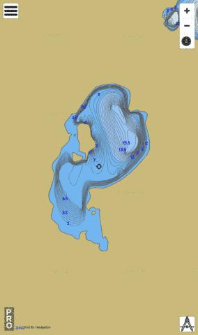 Gedak Lake Fishing Map - i-Boating App