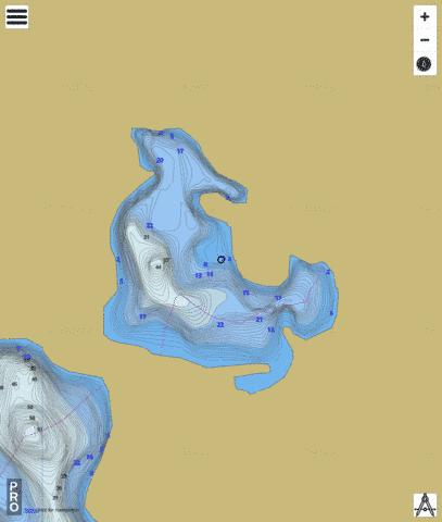 Kathy Lake Fishing Map - i-Boating App