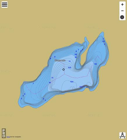 Musqua Lake Fishing Map - i-Boating App