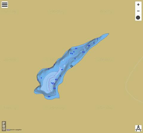 Toby Lake Fishing Map - i-Boating App