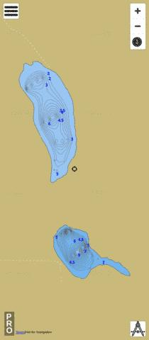 Twin Lakes Fishing Map - i-Boating App