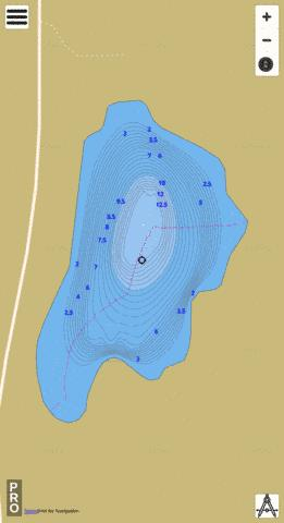 Unnamed  Lake 605 Fishing Map - i-Boating App