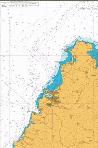 North West Approaches to Saint Lucia Marine Chart - Nautical Charts App