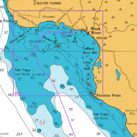 B  Black River Anchorage Marine Chart - Nautical Charts App