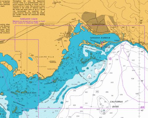Approaches to Kingston Harbour Marine Chart - Nautical Charts App