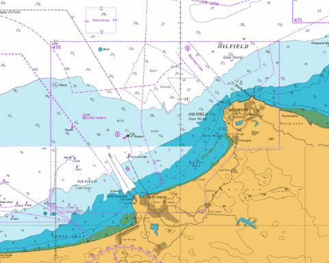 B  Approaches to Point Fortin and Brighton Marine Chart - Nautical Charts App